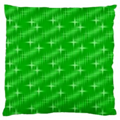 Many Stars, Neon Green Large Flano Cushion Cases (one Side)