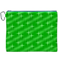 Many Stars, Neon Green Canvas Cosmetic Bag (XXXL)