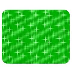 Many Stars, Neon Green Double Sided Flano Blanket (Medium)