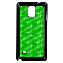 Many Stars, Neon Green Samsung Galaxy Note 4 Case (black)