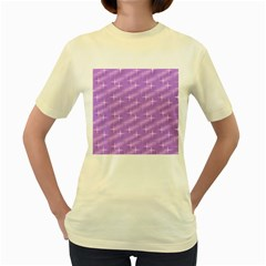 Many Stars, Lilac Women s Yellow T-Shirt