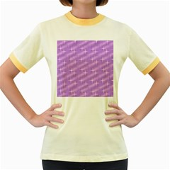 Many Stars, Lilac Women s Fitted Ringer T-Shirts