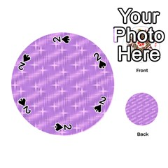 Many Stars, Lilac Playing Cards 54 (Round)