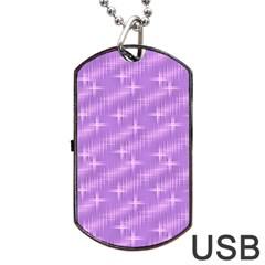 Many Stars, Lilac Dog Tag USB Flash (One Side)
