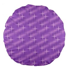 Many Stars, Lilac Large 18  Premium Flano Round Cushions