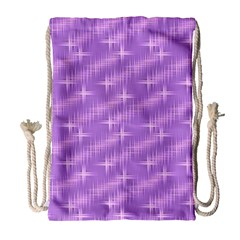 Many Stars, Lilac Drawstring Bag (large)