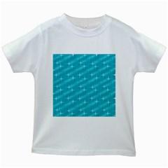 Many Stars,aqua Kids White T Shirts