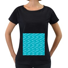 Many Stars,aqua Women s Loose Fit T Shirt (black)