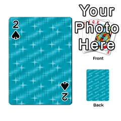 Many Stars,aqua Playing Cards 54 Designs