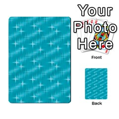 Many Stars,aqua Multi-purpose Cards (Rectangle)