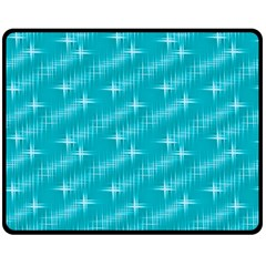 Many Stars,aqua Fleece Blanket (Medium)