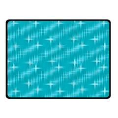 Many Stars,aqua Fleece Blanket (small)