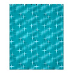Many Stars,aqua Shower Curtain 60  X 72  (medium)