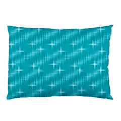 Many Stars,aqua Pillow Cases (two Sides)