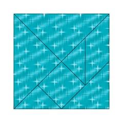 Many Stars,aqua Acrylic Tangram Puzzle (6  x 6 )