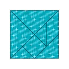 Many Stars,aqua Acrylic Tangram Puzzle (4  x 4 )