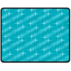 Many Stars,aqua Double Sided Fleece Blanket (Medium)
