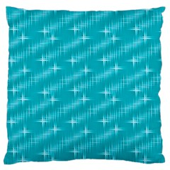 Many Stars,aqua Large Flano Cushion Cases (One Side)