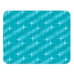Many Stars,aqua Double Sided Flano Blanket (Large)