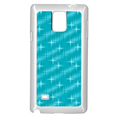 Many Stars,aqua Samsung Galaxy Note 4 Case (white)