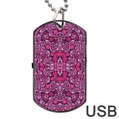 Crazy Beautiful Abstract  Dog Tag USB Flash (Two Sides)