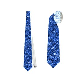 Sparkling Glitter Blue Neckties (One Side)