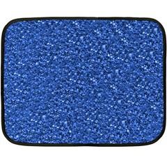 Sparkling Glitter Blue Fleece Blanket (mini)