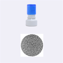 Sparkling Glitter Blue Rubber Round Stamps (small)