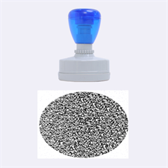 Sparkling Glitter Blue Rubber Oval Stamps