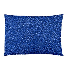 Sparkling Glitter Blue Pillow Cases (two Sides)