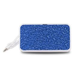 Sparkling Glitter Blue Portable Speaker (White)