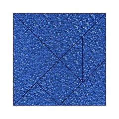 Sparkling Glitter Blue Acrylic Tangram Puzzle (6  X 6 )