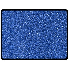 Sparkling Glitter Blue Double Sided Fleece Blanket (large)