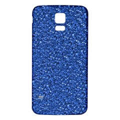 Sparkling Glitter Blue Samsung Galaxy S5 Back Case (white)