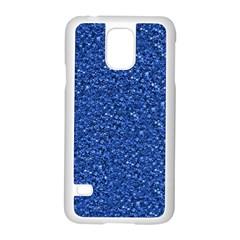 Sparkling Glitter Blue Samsung Galaxy S5 Case (white)