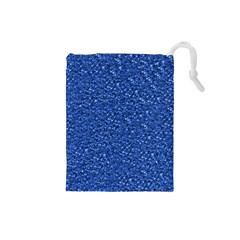 Sparkling Glitter Blue Drawstring Pouches (small)
