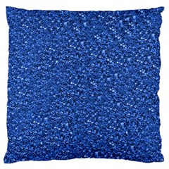 Sparkling Glitter Blue Large Flano Cushion Cases (Two Sides)
