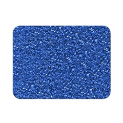 Sparkling Glitter Blue Double Sided Flano Blanket (Mini)