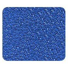 Sparkling Glitter Blue Double Sided Flano Blanket (Small)