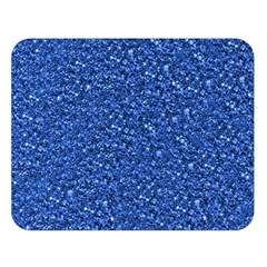 Sparkling Glitter Blue Double Sided Flano Blanket (large)