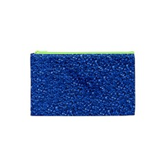 Sparkling Glitter Blue Cosmetic Bag (xs)