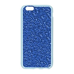 Sparkling Glitter Blue Apple Seamless iPhone 6 Case (Color)