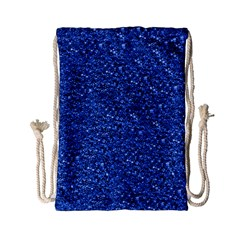 Sparkling Glitter Blue Drawstring Bag (Small)