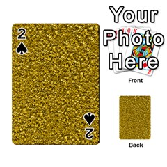 Sparkling Glitter Golden Playing Cards 54 Designs