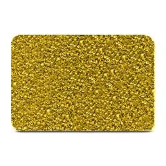 Sparkling Glitter Golden Plate Mats