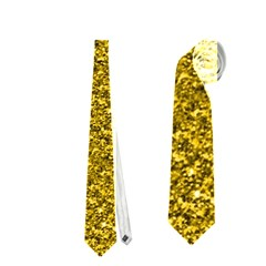 Sparkling Glitter Golden Neckties (one Side)