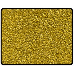 Sparkling Glitter Golden Fleece Blanket (Medium)