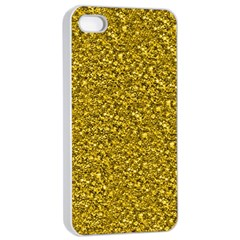 Sparkling Glitter Golden Apple iPhone 4/4s Seamless Case (White)