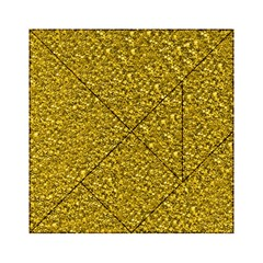 Sparkling Glitter Golden Acrylic Tangram Puzzle (6  X 6 )
