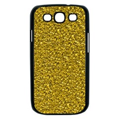 Sparkling Glitter Golden Samsung Galaxy S III Case (Black)